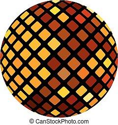 apelsin, boll, mosaik