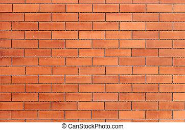 apelsin, vägg, tegelsten, struktur