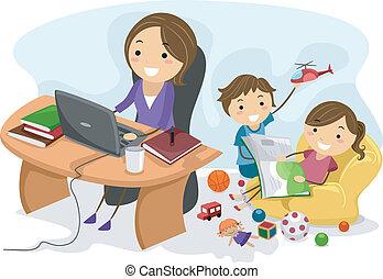 arbeta mamma