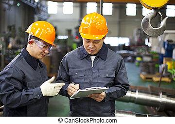arbetare, fabrik