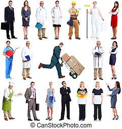 arbetare, set., folk