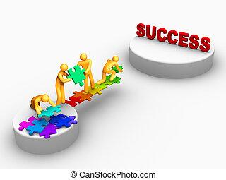 arbete, framgång, lag