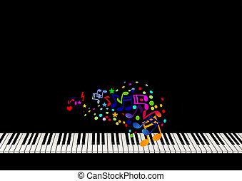 ark, piano, musik