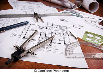 arkitekt, redskapen