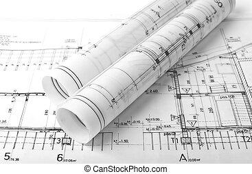 arkitekt, rolls, planer