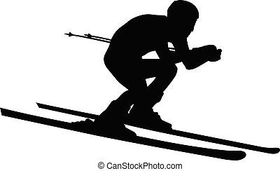atlet, alpin skidåkare