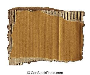 avfall, papp, gammal