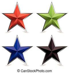 avfasa, form, metall, stjärna