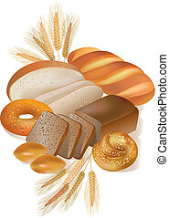bageri, produkter, bread