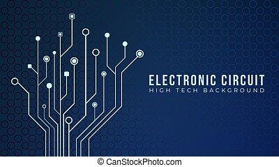 bakgrund, abstrakt, bord, template., vektor, form., elektronisk, träd, illustration, strömkrets, moderkort, design, blå, teknologi