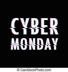 bakgrund, cybernetiska, måndag