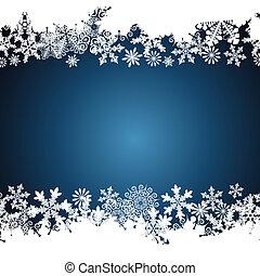 bakgrund., design, snöflinga, gräns, jul