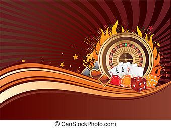 bakgrund, hasardspel
