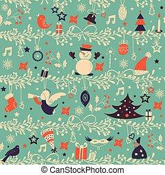 bakgrund., jul, mönster