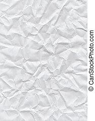 bakgrund., krossa tidning, vit, struktur