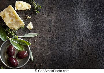bakgrund, mat