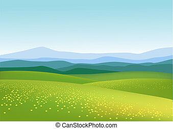 bakgrund, natur