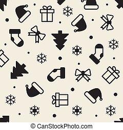 bakgrund, seamless, jul, monokrom, mönster