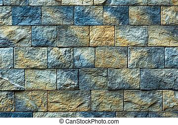 bakgrund, struktur, gammal, tegelsten vägg