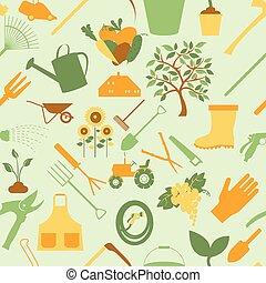 bakgrund., trädgårdsarbete, seamless