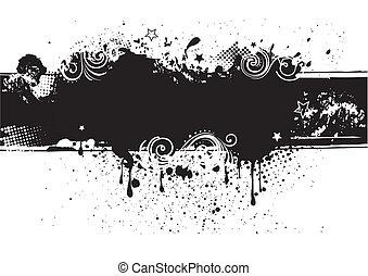 baksida, bläck, illustration-grunge, vektor
