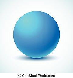 ball., blå