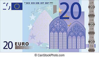 bank-note, 20, euros