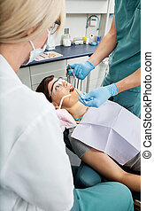 bedövningsmedel, tålmodig, dental, mottagande, lokal
