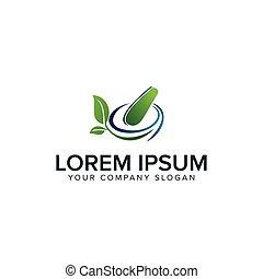 begrepp, apotek, medicin, design, mall, herbal, logo