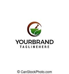 begrepp, apotek, vektor, design, mall, herbal, logo