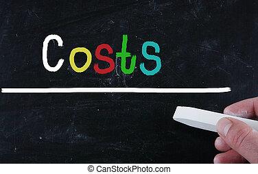 begrepp, kostar