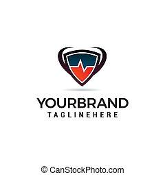 begrepp, medicinsk, vektor, design, mall, logo