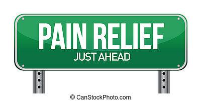 begrepp, smärta, underteckna, trafik, lättnad, väg