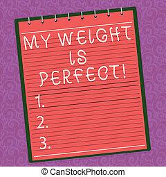 begrepp, vikt, existens, text, form, perfect., lämplig, bakgrund., topp, spiral, skrift färga, foto, affär, watermark, anteckningsblock, vistelse, tryck, ord, ivrig, livsstil, hälsosam, fodra, min