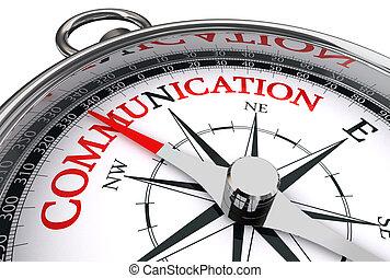 begreppsmässig, kommunikation, ord, röd, kompass