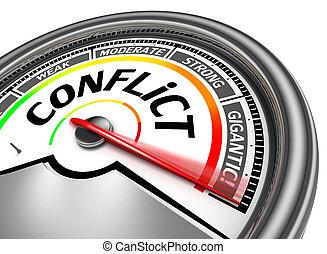 begreppsmässig, konflikt, meter