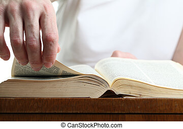 bibel, avvisa sida, man