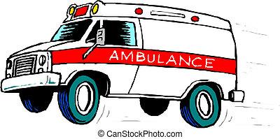 bil, ambulans