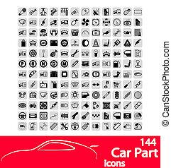 bil delvis, ikonen