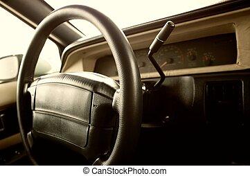bil, interior.