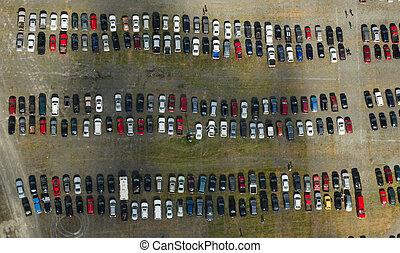 bil luft, lott, parkering