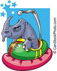 bil, noshörningen, stötfångare