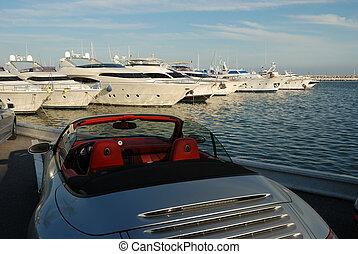 bil, yacht, lyxvara