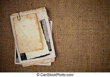 bild, säckväv, över, struktur, foto, mall, gammal, din, bukett