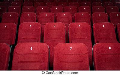 bio, sal, tom, sittplatser
