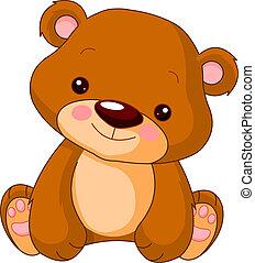 björn, nöje, zoo.