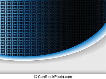 blå, abstrakt, bakgrund, glöd