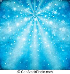 blå, abstrakt, bakgrund, stjärnor