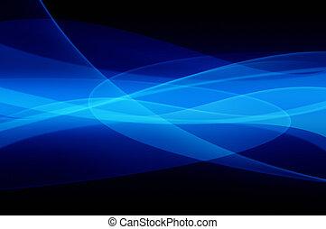 blå, abstrakt, funderingar, struktur
