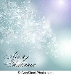 blå, abstrakt, jul, bakgrund